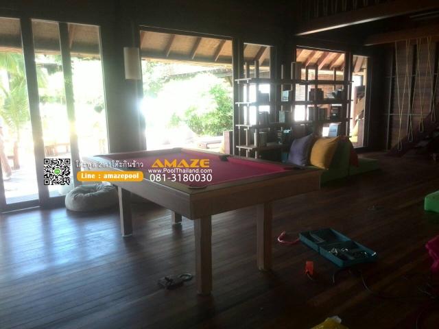 โต๊ะพูลโต๊ะกินข้าวไม้จริง-sixsense_samuiเกาะสมุยไม้สักDiningpool-poolthailand